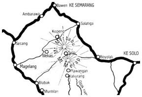 peta merbabu
